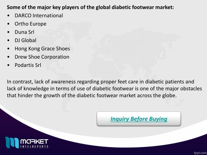 Some of the major key players of the global diabetic footwear