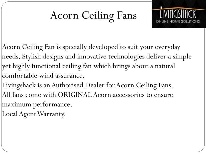 Acorn Ceiling Fans