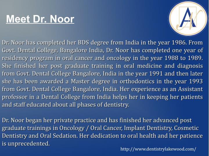 Meet Dr. Noor
