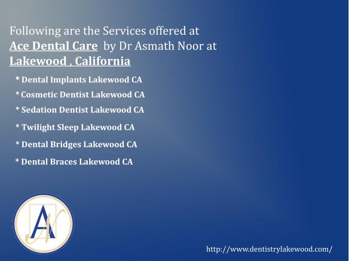 Following are the Services offered at