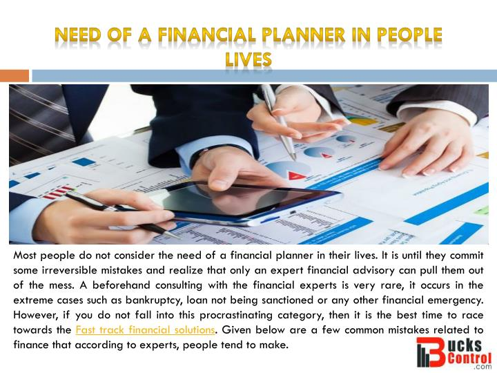 Need of a financial planner in people lives
