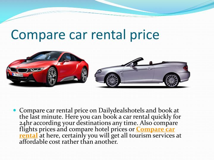 Compare car rental price