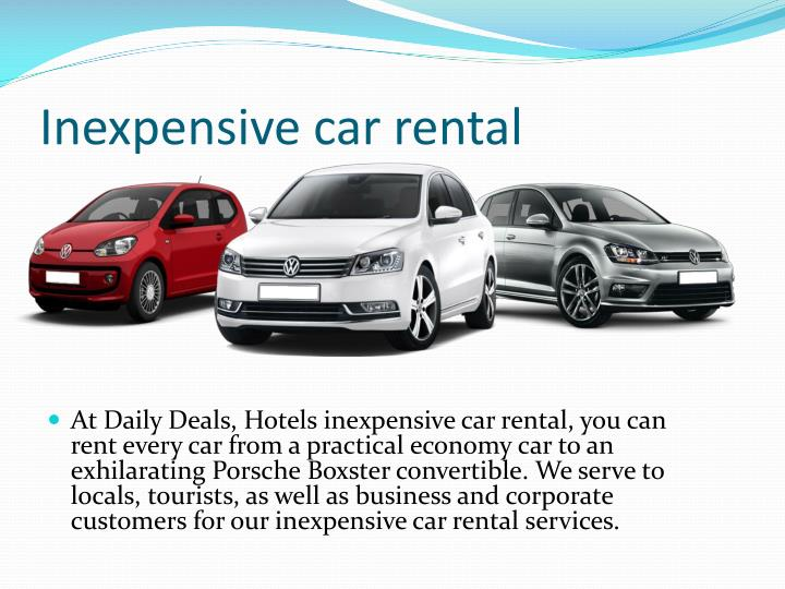 Inexpensive car rental