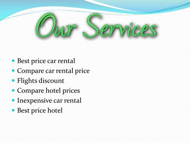 Best price car rental