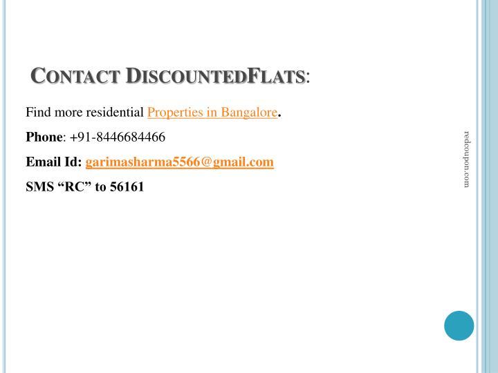 Contact DiscountedFlats