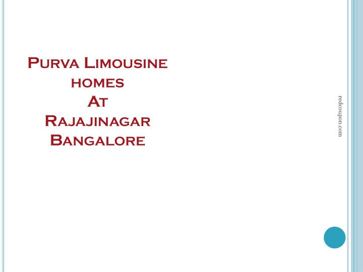 purva limousine homes at rajajinagar bangalore