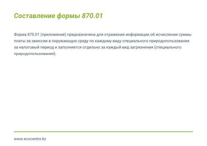 Составление формы 870.01