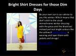 bright shirt dresses for those dim days