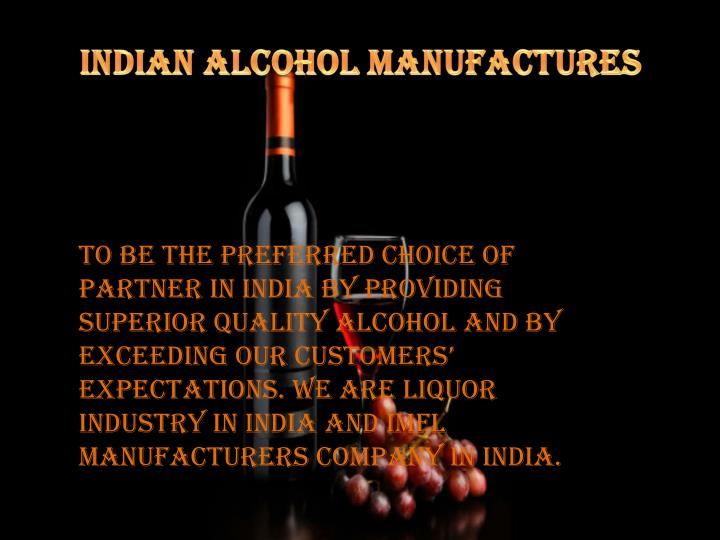 Indian Alcohol Manufactures