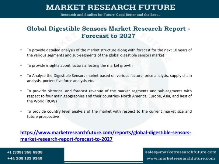 Global Digestible Sensors Market Research Report - Forecast to 2027