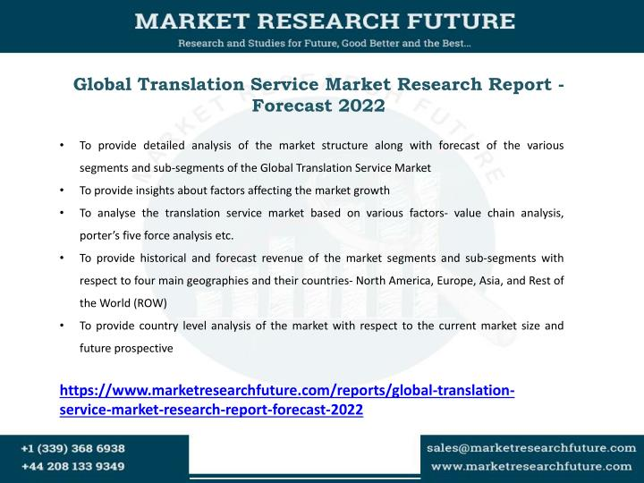 Global Translation Service Market Research Report - Forecast 2022