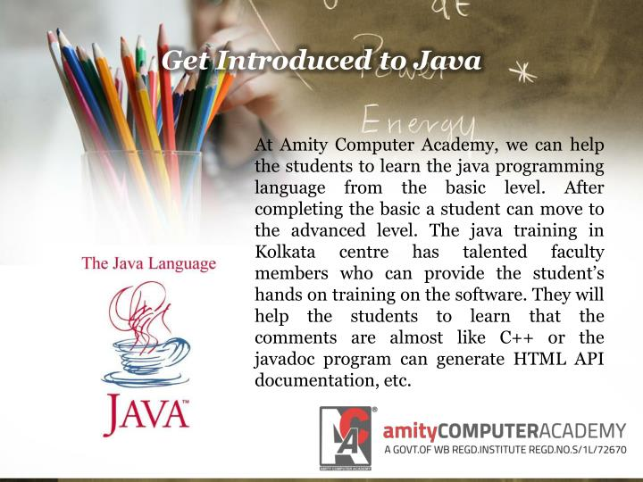 Get Introduced to Java