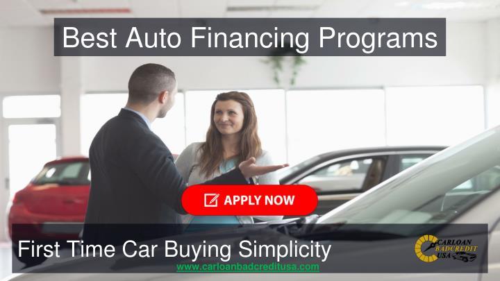 Best Auto Financing Programs