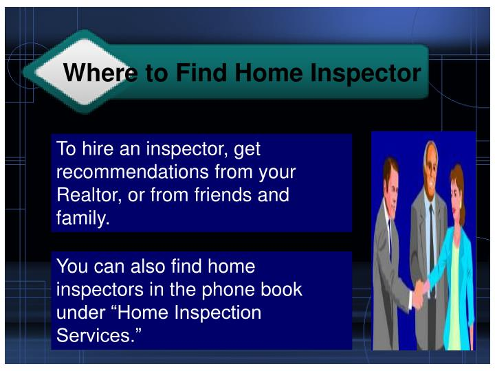 Where to Find Home Inspector