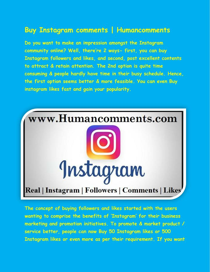 Buy Instagram comments | Humancomments