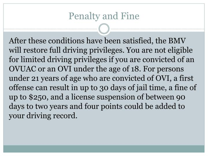 Penalty and Fine