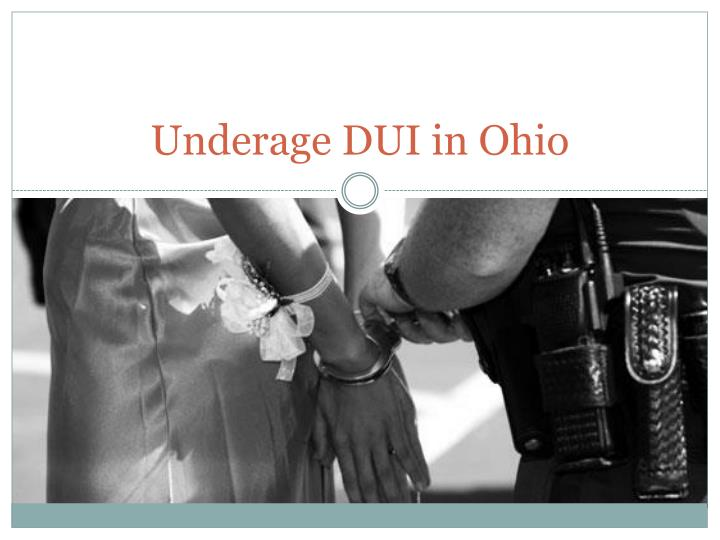 Underage DUI in Ohio