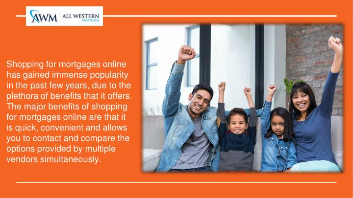 Shopping for mortgages online