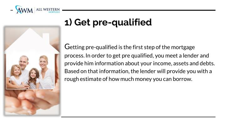 1) Get pre-qualified