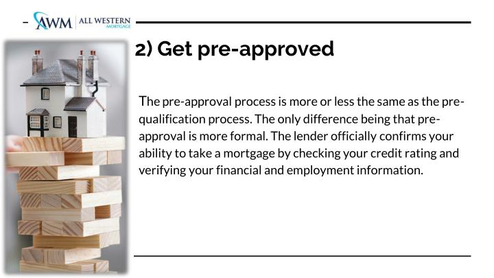 2) Get pre-approved