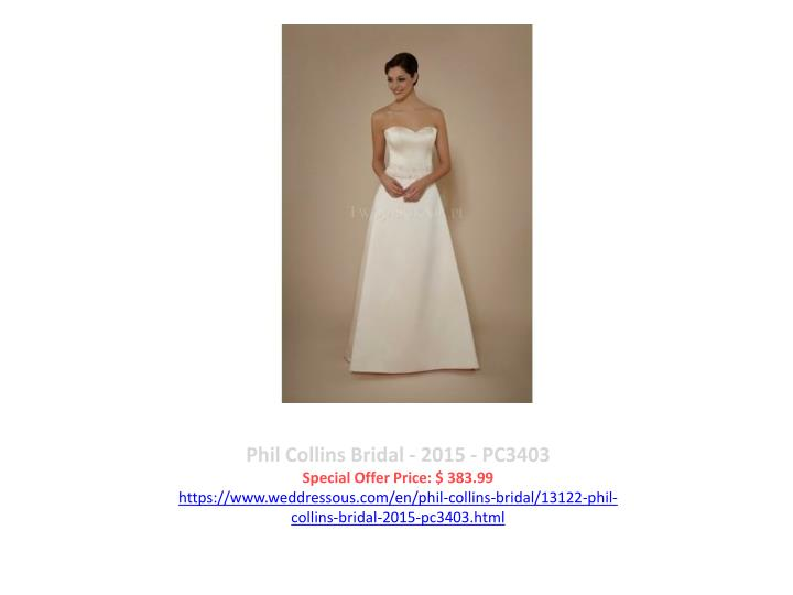 Phil Collins Bridal - 2015 - PC3403