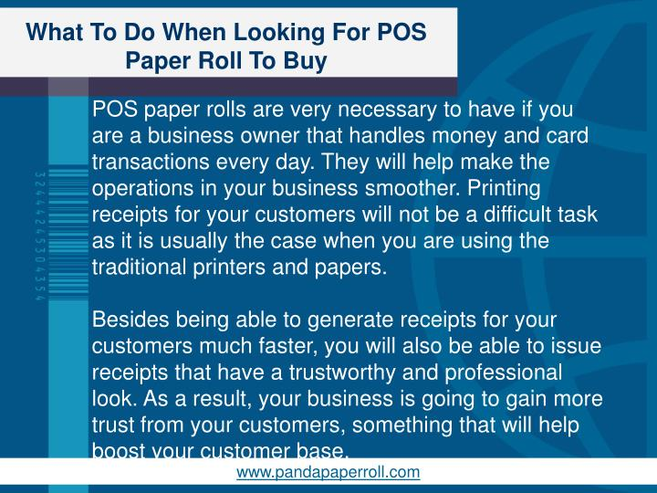 What To Do When Looking For POS Paper Roll To Buy