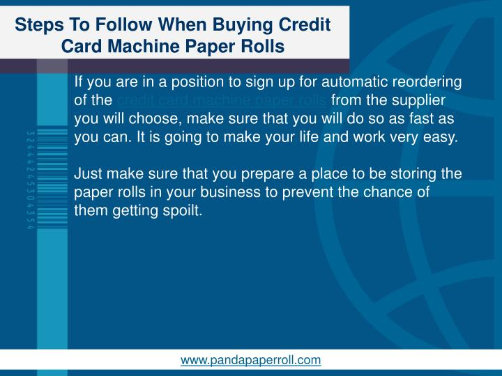 Steps To Follow When Buying Credit Card Machine Paper Rolls