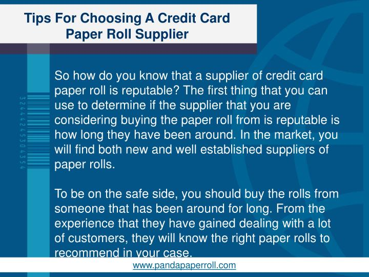 Tips for choosing a credit card paper roll supplier2