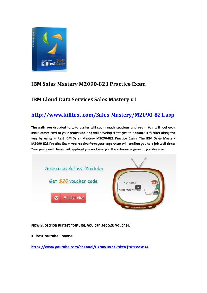 IBM Sales Mastery M2090-821 Practice Exam