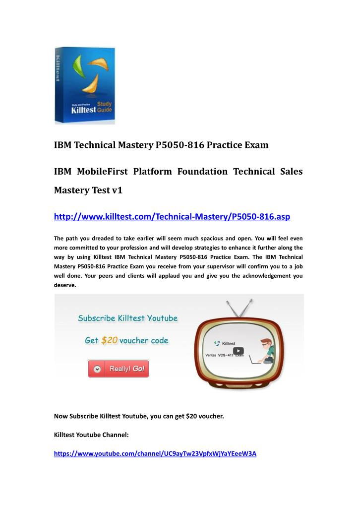 IBM Technical Mastery P5050-816 Practice Exam