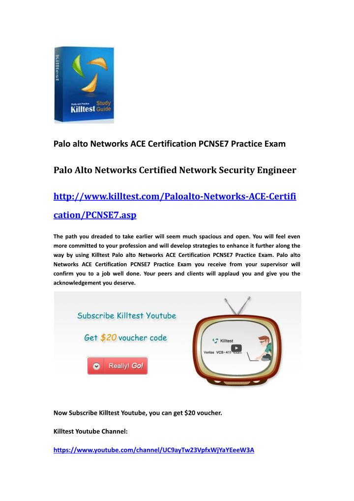 Palo alto Networks ACE Certification PCNSE7 Practice Exam