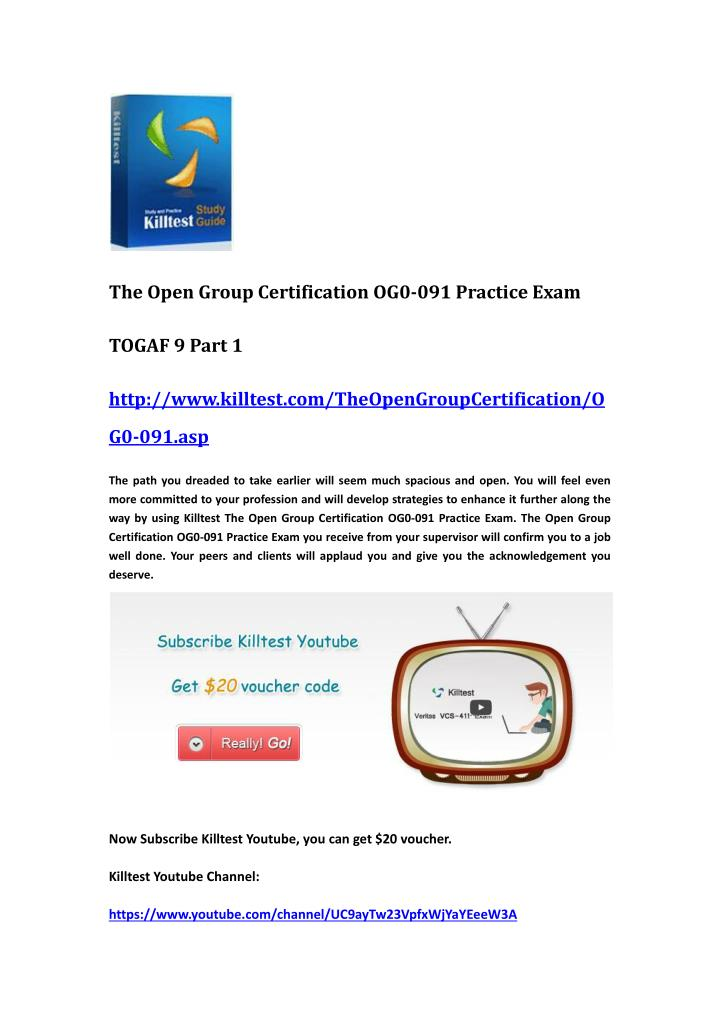 The Open Group Certification OG0-091 Practice Exam