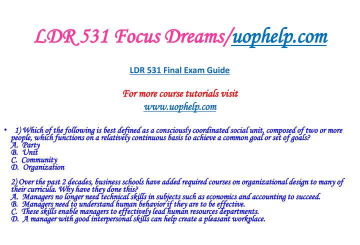 LDR 531 Focus Dreams/