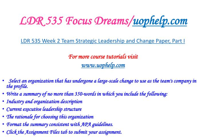 LDR 535 Focus Dreams/