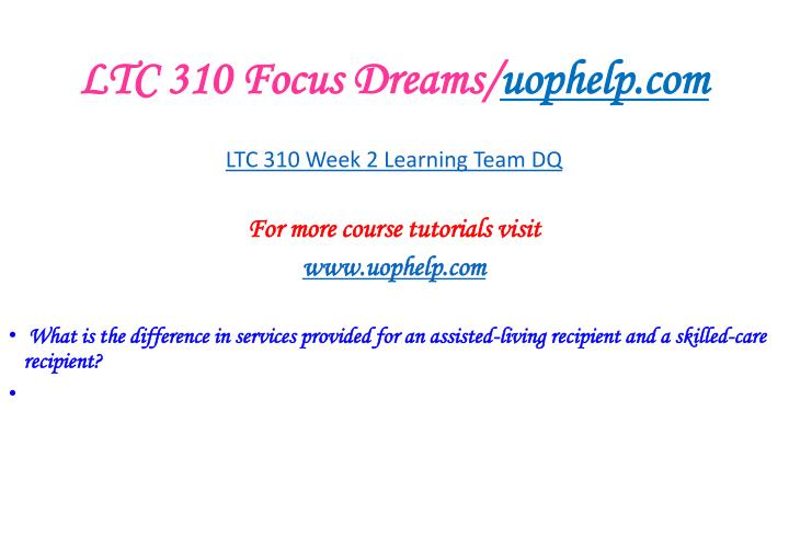 LTC 310 Focus Dreams/