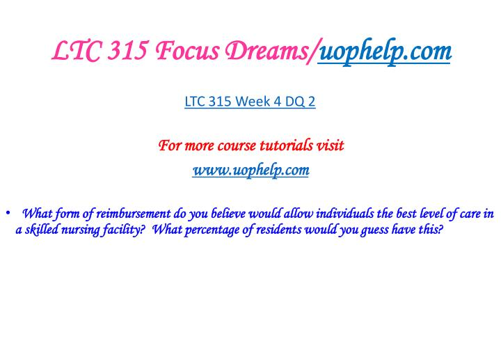 LTC 315 Focus Dreams/