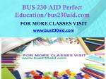 bus 230 aid perfect education bus230aid com1