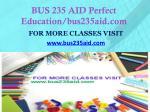 bus 235 aid perfect education bus235aid com1