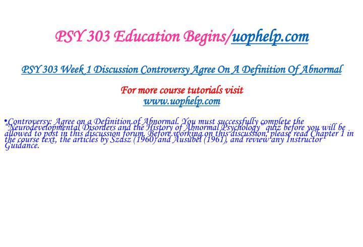 Psy 303 education begins uophelp com2