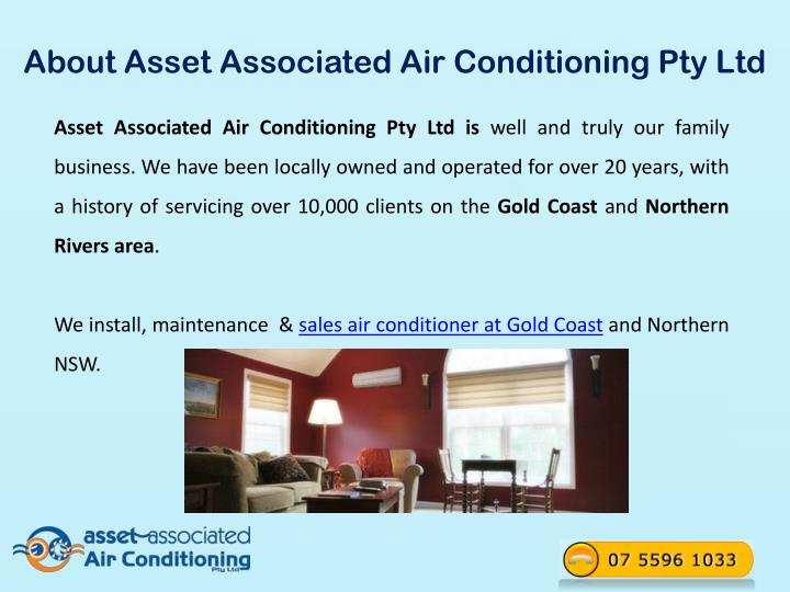 About Asset Associated Air Conditioning Pty Ltd