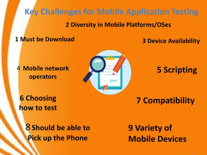 Key Challenges for Mobile Application Testing