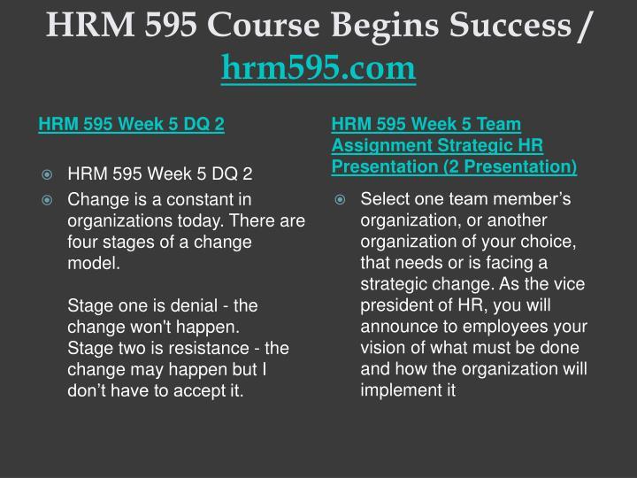 HRM 595 Course Begins Success /