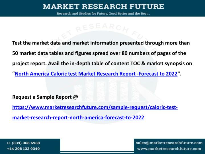 Test the market data and market information presented through more than