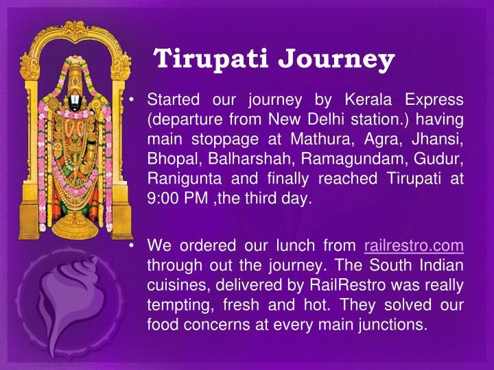 Tirupati Journey