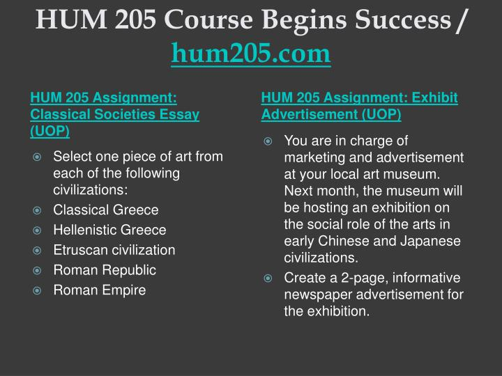 Hum 205 course begins success hum205 com1