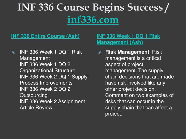 Inf 336 course begins success inf336 com1