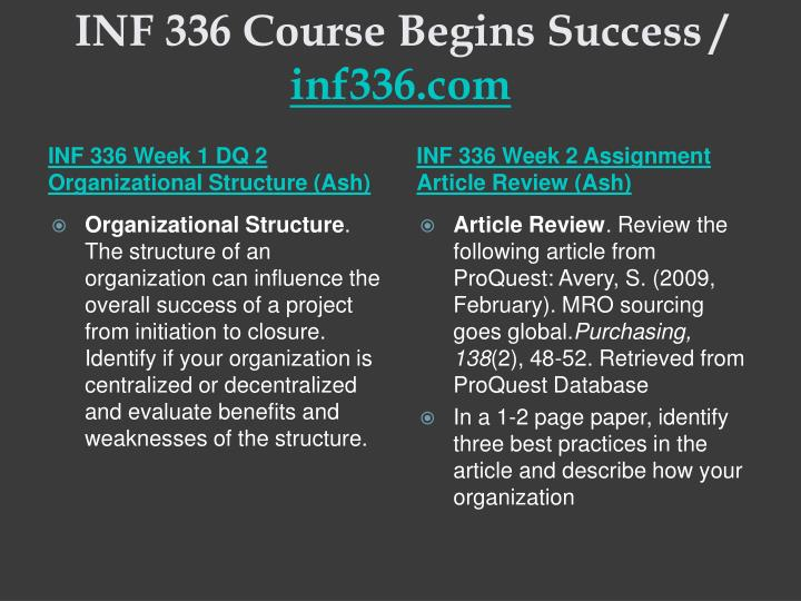 Inf 336 course begins success inf336 com2
