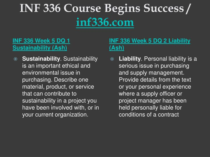 INF 336 Course Begins Success /