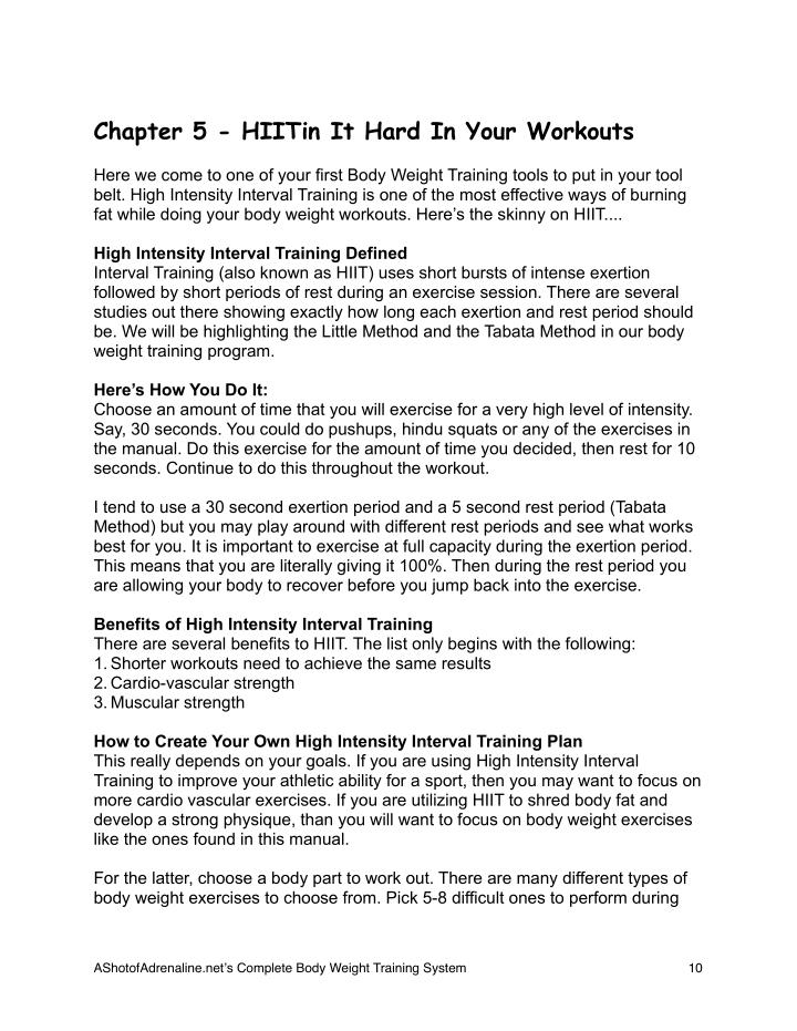 Chapter 5 - HIITin It Hard In Your Workouts