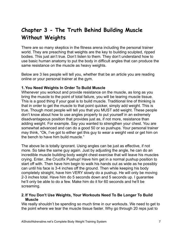 Chapter 3 - The Truth Behind Building Muscle